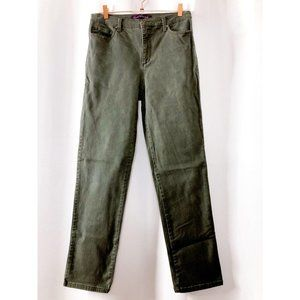 Gloria Vanderbilt Womens 10 Green High Rise Jeans